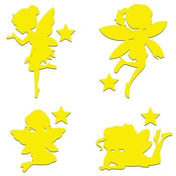 استیکر کلید و پریز مدل فرشته بسته 4 عددی