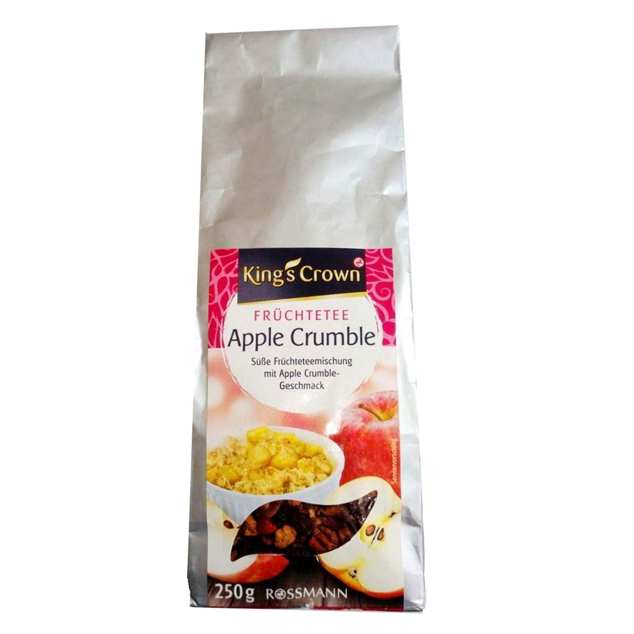 بسته چای میوه ای کینگز کرون مدل Apple Crumble