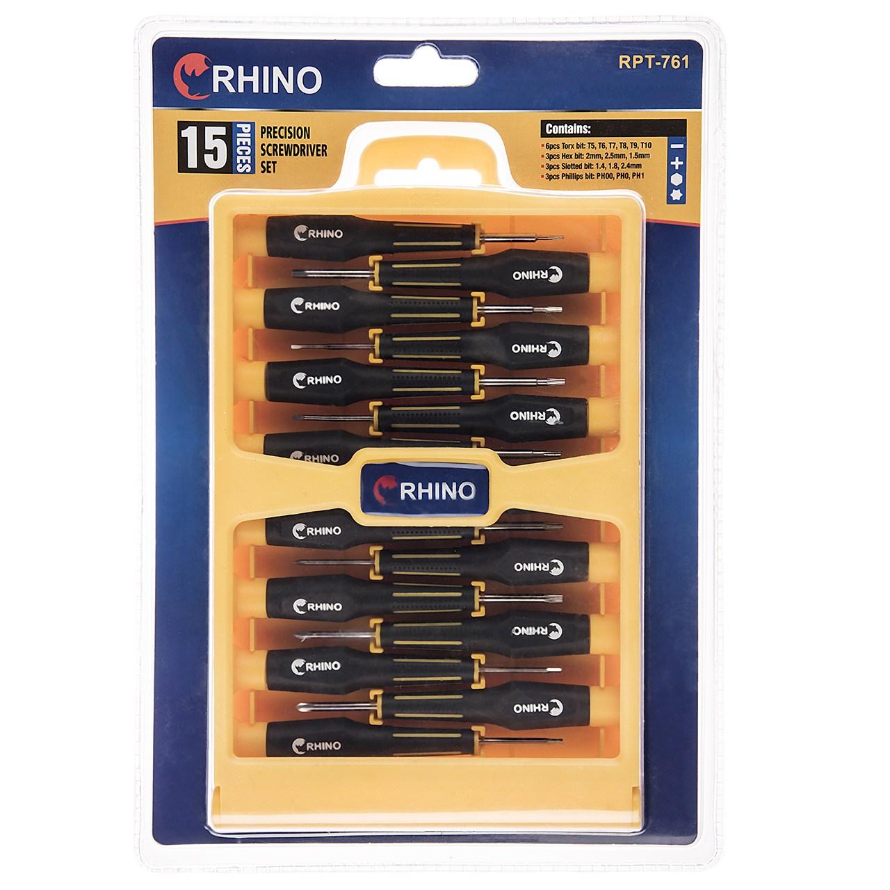 مجموعه 15 عددی پیچ گوشتی ساعتی رینو مدل RPT-761