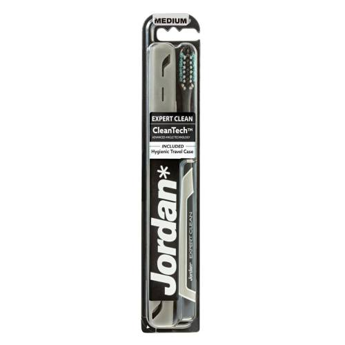 مسواک جردن مدل Expert Clean با برس متوسط به همراه قاب محافظ