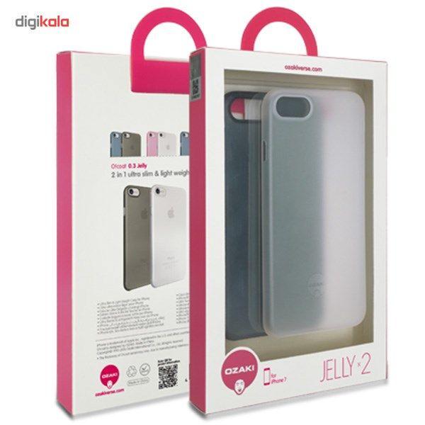 کاور اوزاکی مدل Ocoat 0.3 Jelly 2 In 1 Transparent مناسب برای گوشی موبایل آیفون 8/7 main 1 8