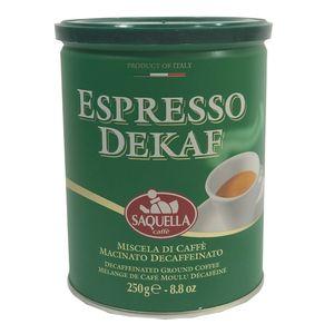 قوطی قهوه اسپرسو ساکوئلا مدل اسپرسو دیکف 250 گرمی