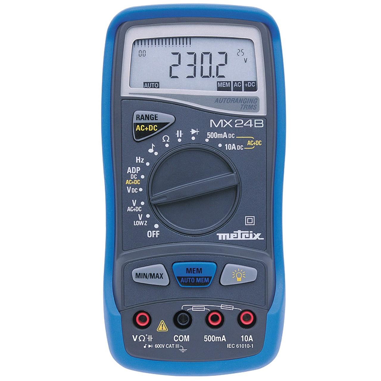 مولتی متر دیجیتالی متریکس مدل MX24B