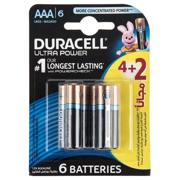 باتری نیم قلمی دوراسل مدل Ultra Power Duralock With Power Check بسته 2 + 4 عددی