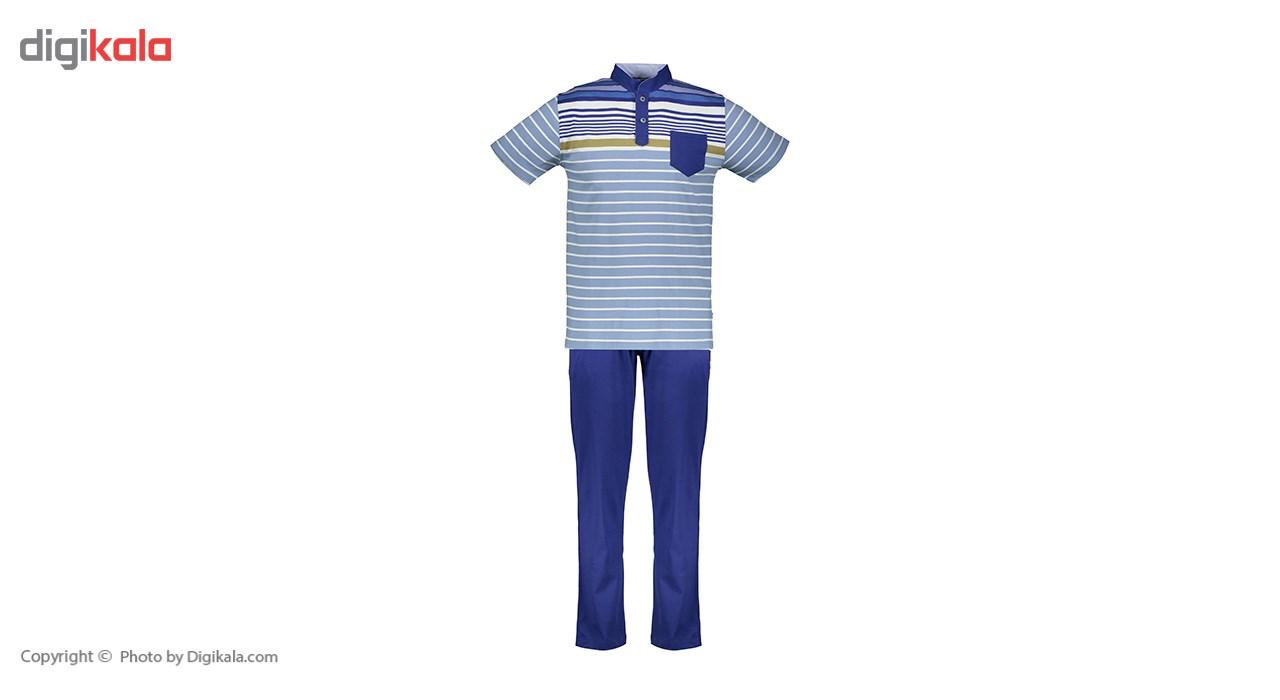 ست پلو شرت و شلوار مردانه پی جامه مدل 376