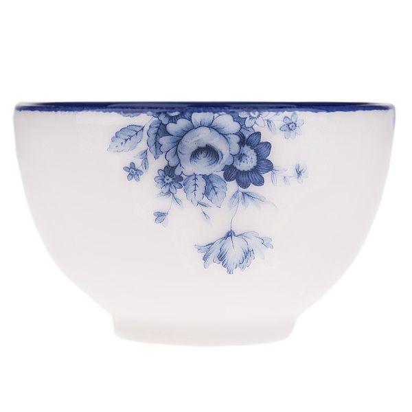 کاسه سرامیکی گالری میرانام طرح گل آبی سایز کوچک