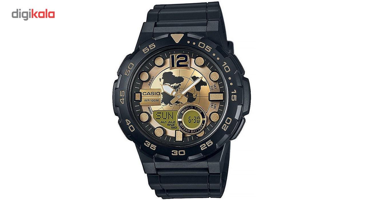 ساعت مچی عقربه ای مردانه کاسیو مدل AEQ-100BW-9AVDF 17