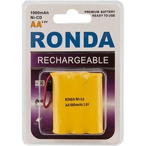 باتری تلفن قابل شارژ Ni-CD روندا با ظرفیت 1000 میلی آمپر ساعت