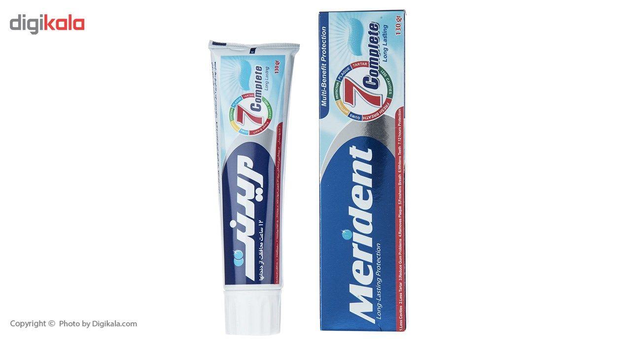 خمیر دندان سفید کننده مریدنت مدل 7 Complete مقدار 130 گرم main 1 2