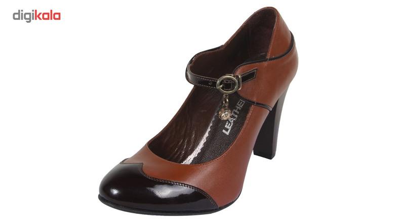 کفش چرم زنانه  شهرچرم مدل 66-39190