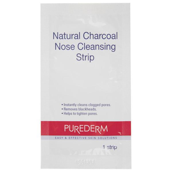 چسب پاک کننده بینی پیوردرم مدل Natural Charcoal بسته 10 عددی