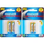 باتری قلمی و نیم قلمی مکسل مدل Alkaline بسته 4 عددی