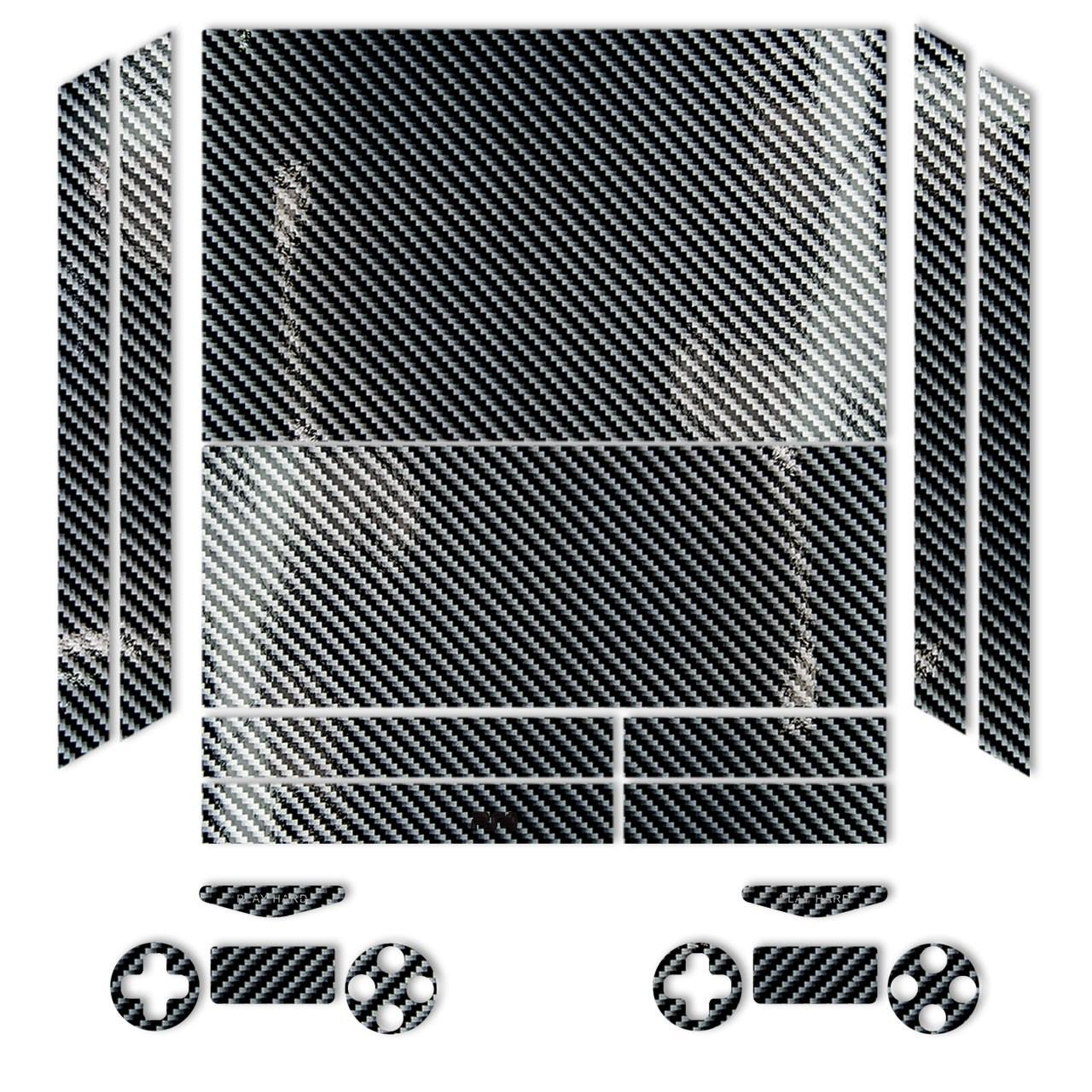 برچسب ماهوت مدل Silver Shine-carbon Special مناسب برای کنسول بازی PS4