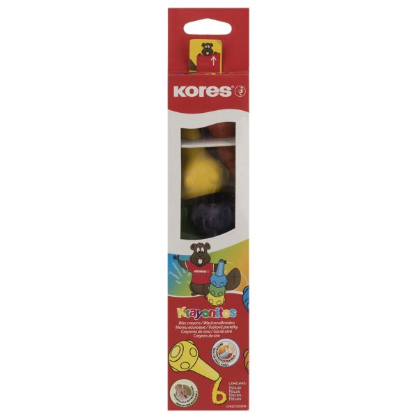 مداد شمعی 6 رنگ کورس مدل Krayonitos
