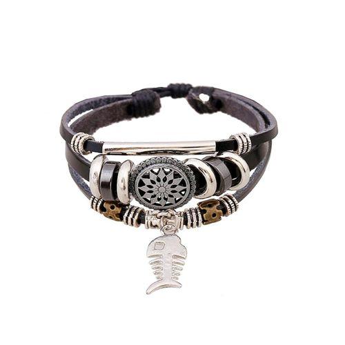 دستبند چرمی الفین مدل el02031