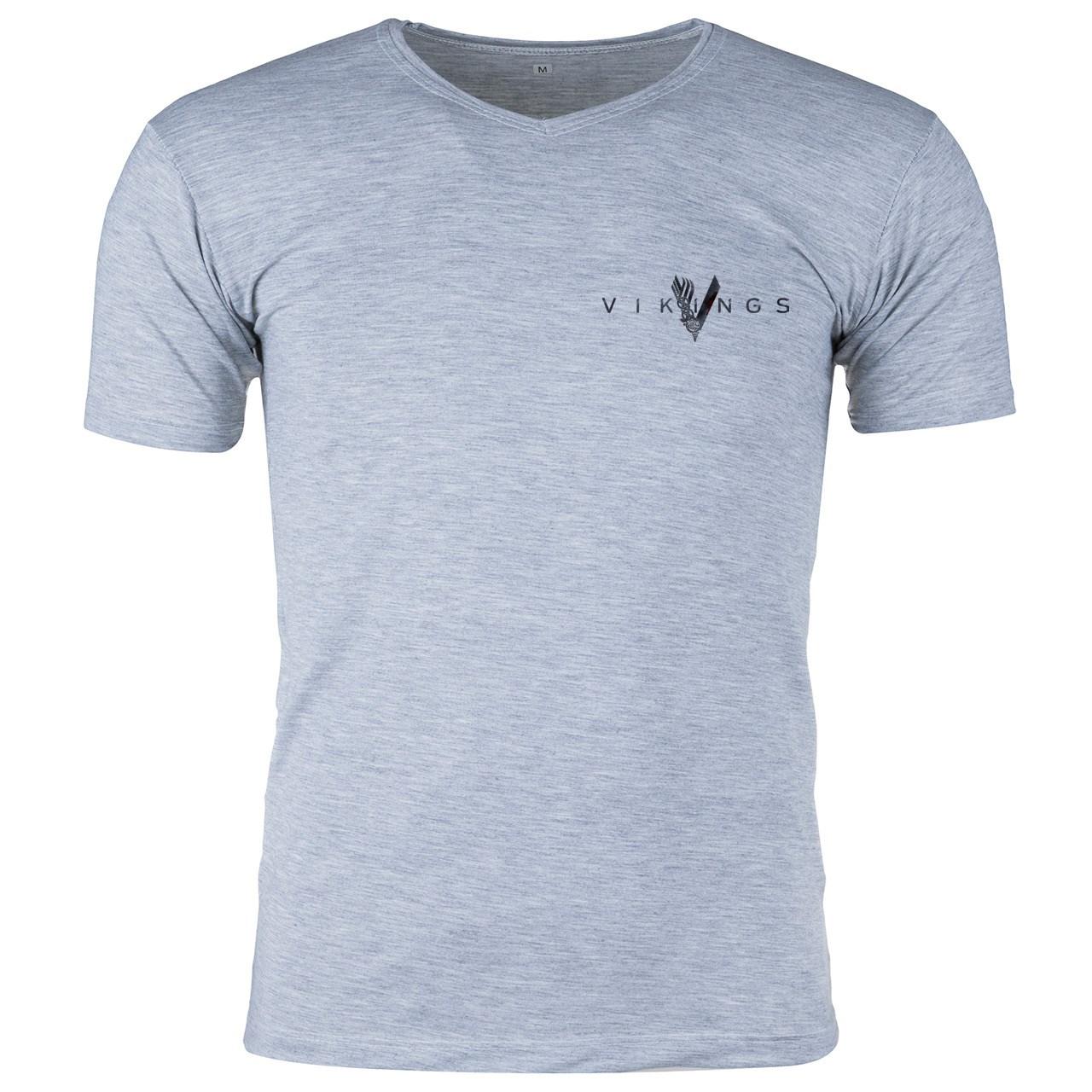 قیمت تی شرت ملانژ  مردانه گالری واو طرح Vikings کد CT80217z