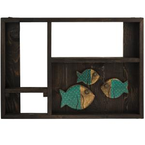 طبقه چوبی گالری ویلو وود طرح ماهی سبز
