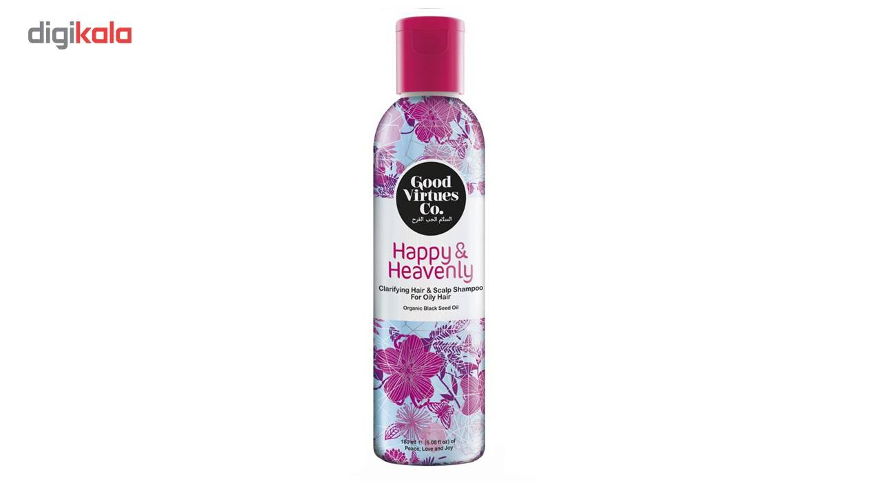 شامپو تقویتی و حجم دهنده موهای چرب گود ورچو مدل Clarifying Hair And Scalp Shampoo حجم 180 میلی لیتر -  - 2