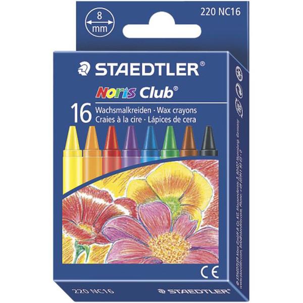 مداد شمعی 16 رنگ استدلر مدل Noris Club