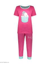 ست تی شرت و شلوارک راحتی زنانه مادر مدل 2041102-66 -  - 2