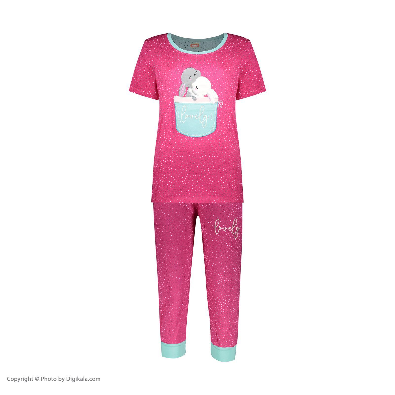 ست تی شرت و شلوارک راحتی زنانه مادر مدل 2041102-66 -  - 3