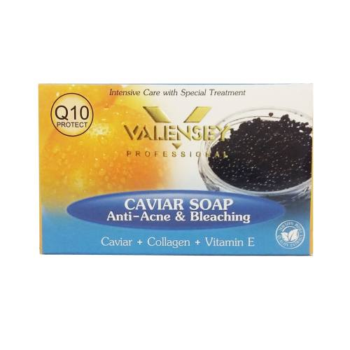 صابون ضد آکنه والنسی حاوی عصاره خاویار مقدار 120 گرم