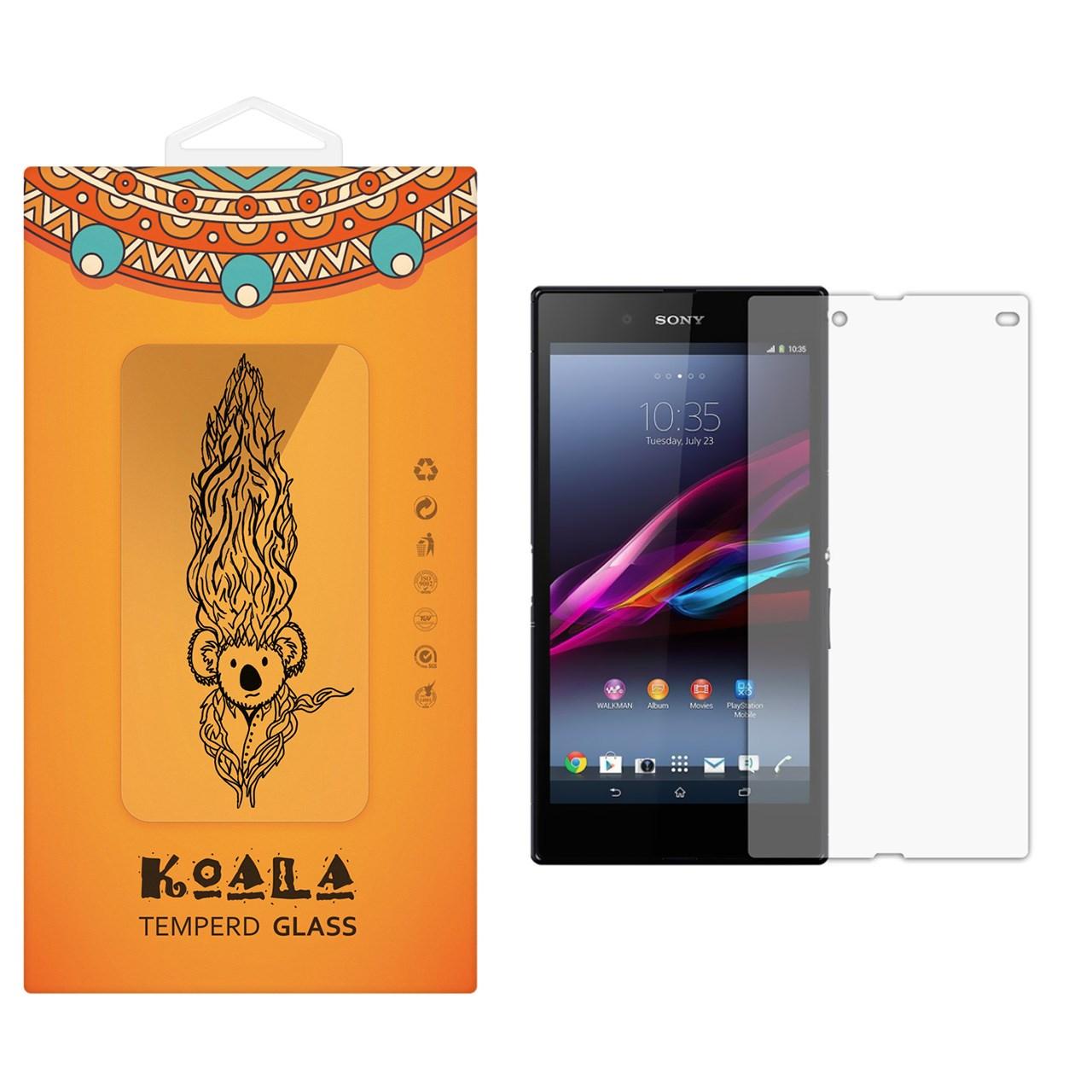 محافظ صفحه نمایش شیشه ای کوالا مدل Tempered مناسب برای گوشی موبایل سونی Xperia Z