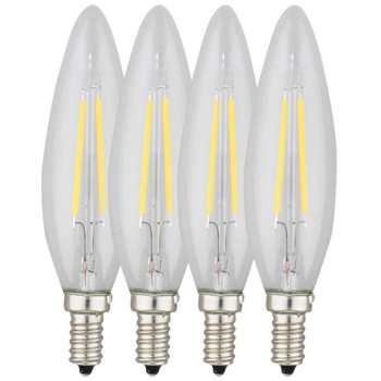 لامپ فیلامنتی 2 وات کداک مدل N41067 پایه E14 بسته 4 عددی