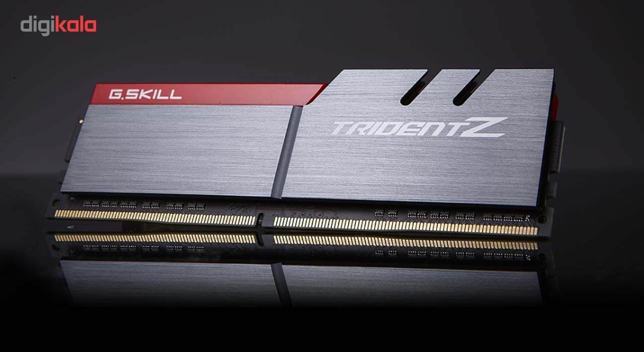 رم دسکتاپ DDR4 دو کاناله 3000 مگاهرتز CL15 جی اسکیل سری TRIDENT Z ظرفیت 32 گیگابایت