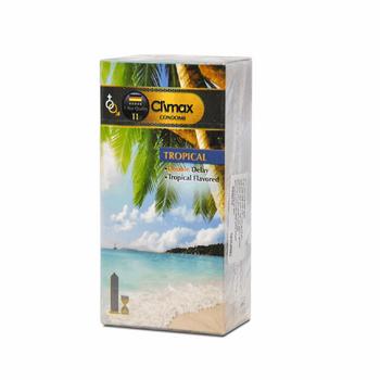 کاندوم کلایمکس مدل Tropical 11بسته 12 عددی
