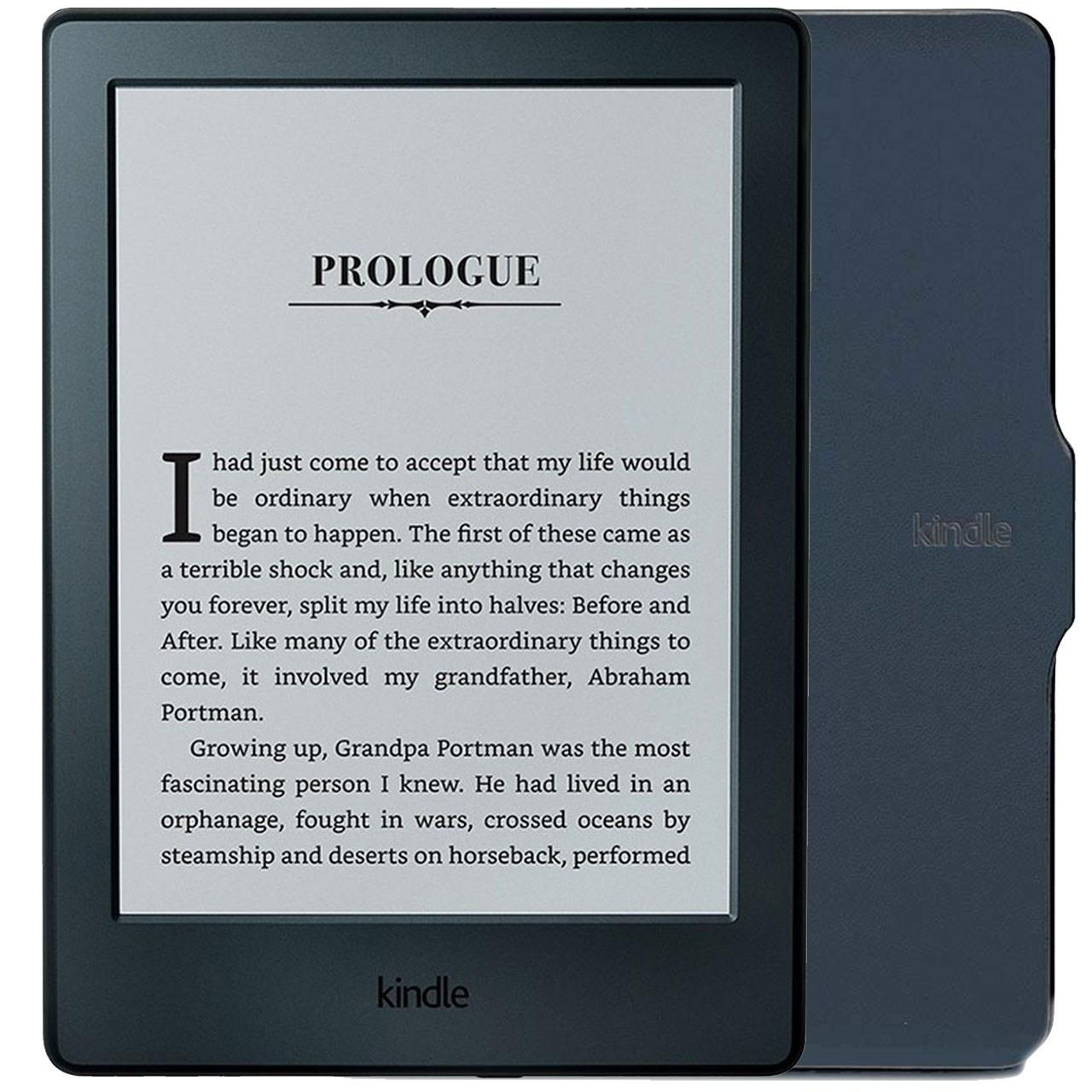 کتابخوان آمازون مدل Kindle نسل هشتم همراه با کاور - ظرفیت 4 گیگابایت