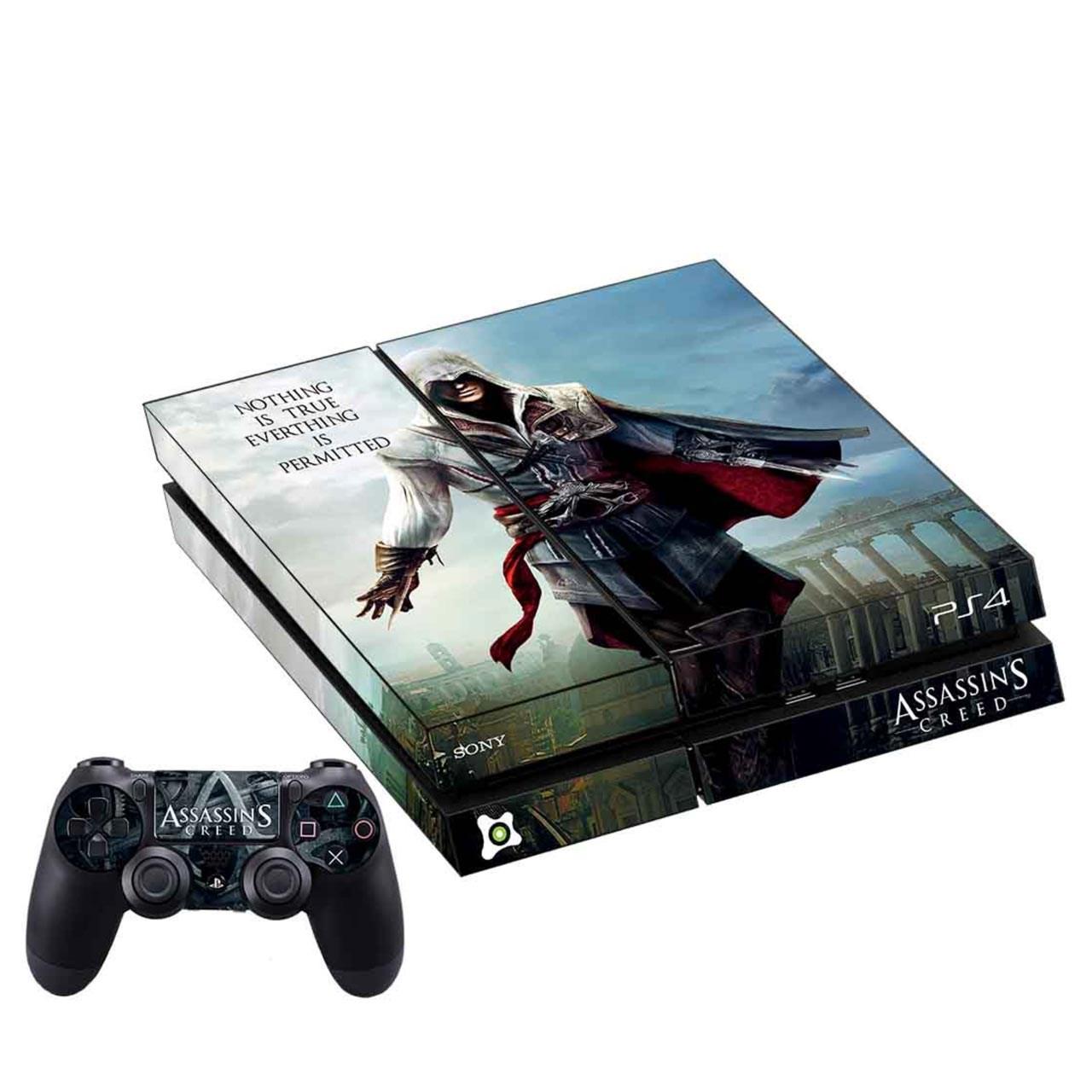 برچسب افقی پلی استیشن ۴ آی گیمر طرح Assassins Creed