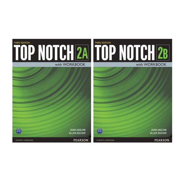کتاب Top Notch 2 اثر Joan Saslow and Allen Ascher انتشارات هدف نوین 2 جلدی