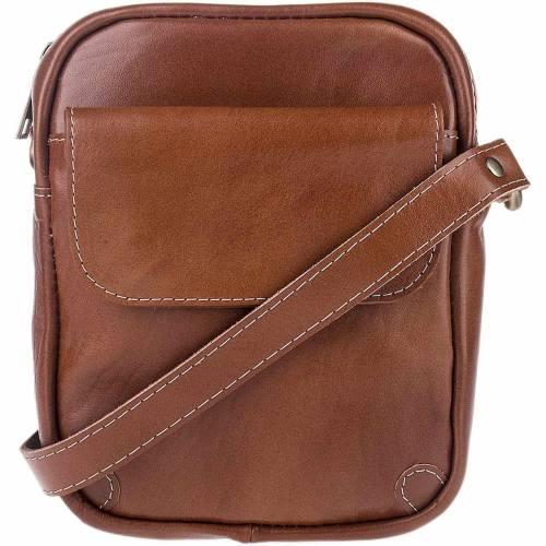 کیف دوشی چرم طبیعی گالری ماندگار مدل تک جیب 136021