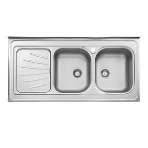 سینک ظرفشویی استیل البرز مدل 214 روکار