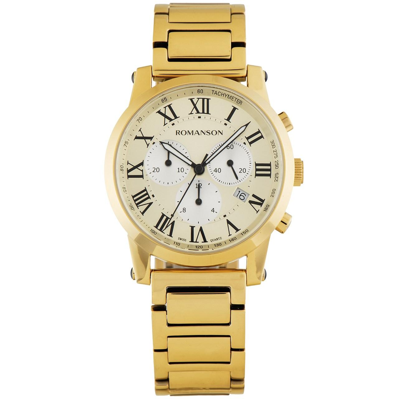 ساعت مچی عقربه ای مردانه رومانسون مدل TM0334HM1GB85B