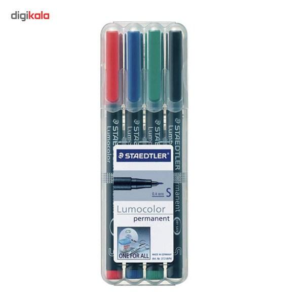 ماژیک چند  منظوره 4 رنگ استدلر مدل Lumocolor Permanent - قطر نوشتار S main 1 1