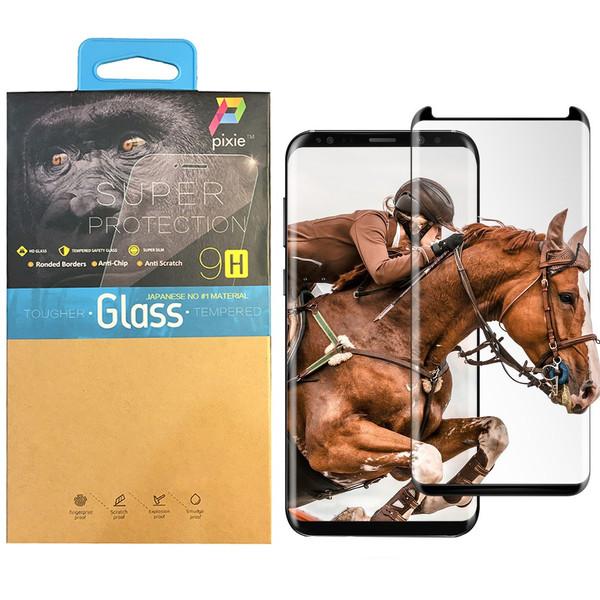 محافظ صفحه نمایش  تمام چسب شیشه ای پیکسی مدل Short 3D  مناسب برای گوشی سامسونگ S8