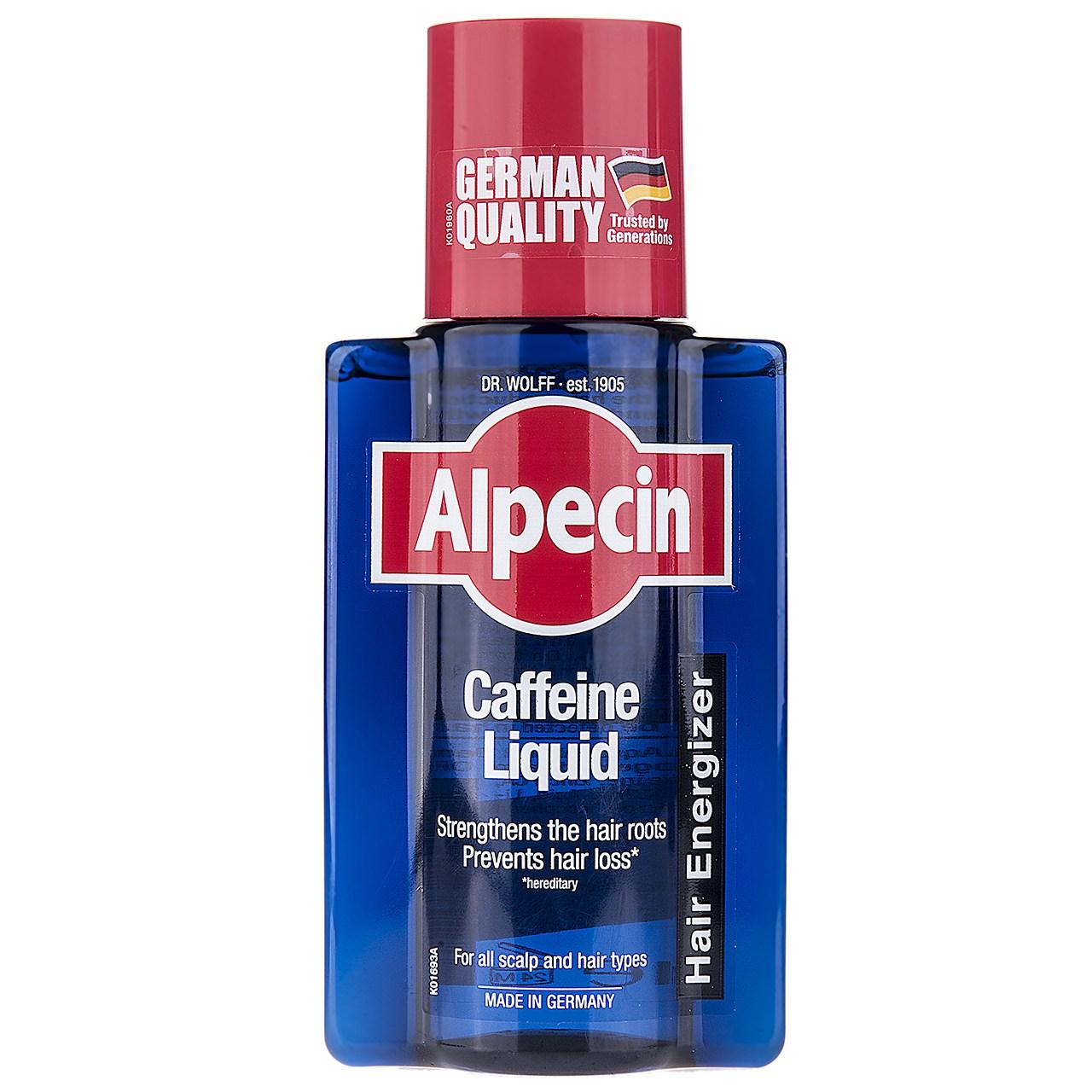 قیمت محلول تقویت کننده مو آلپسین مدل Caffeine  حجم 200 میلی لیتر