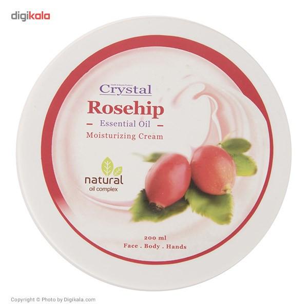 کرم مرطوب کننده کریستال مدل Rosehip حجم 200 میلی لیتر