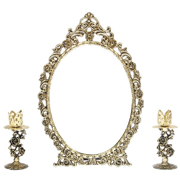 آینه و شمعدان دکوری آرت کن AB801