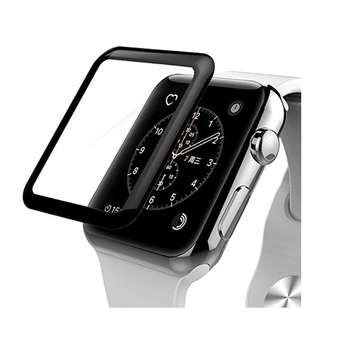 محافظ صفحه نمایش شیشه ای مدل Tempered Glass 3D مناسب برای اپل واچ سایز 42 میلی متر