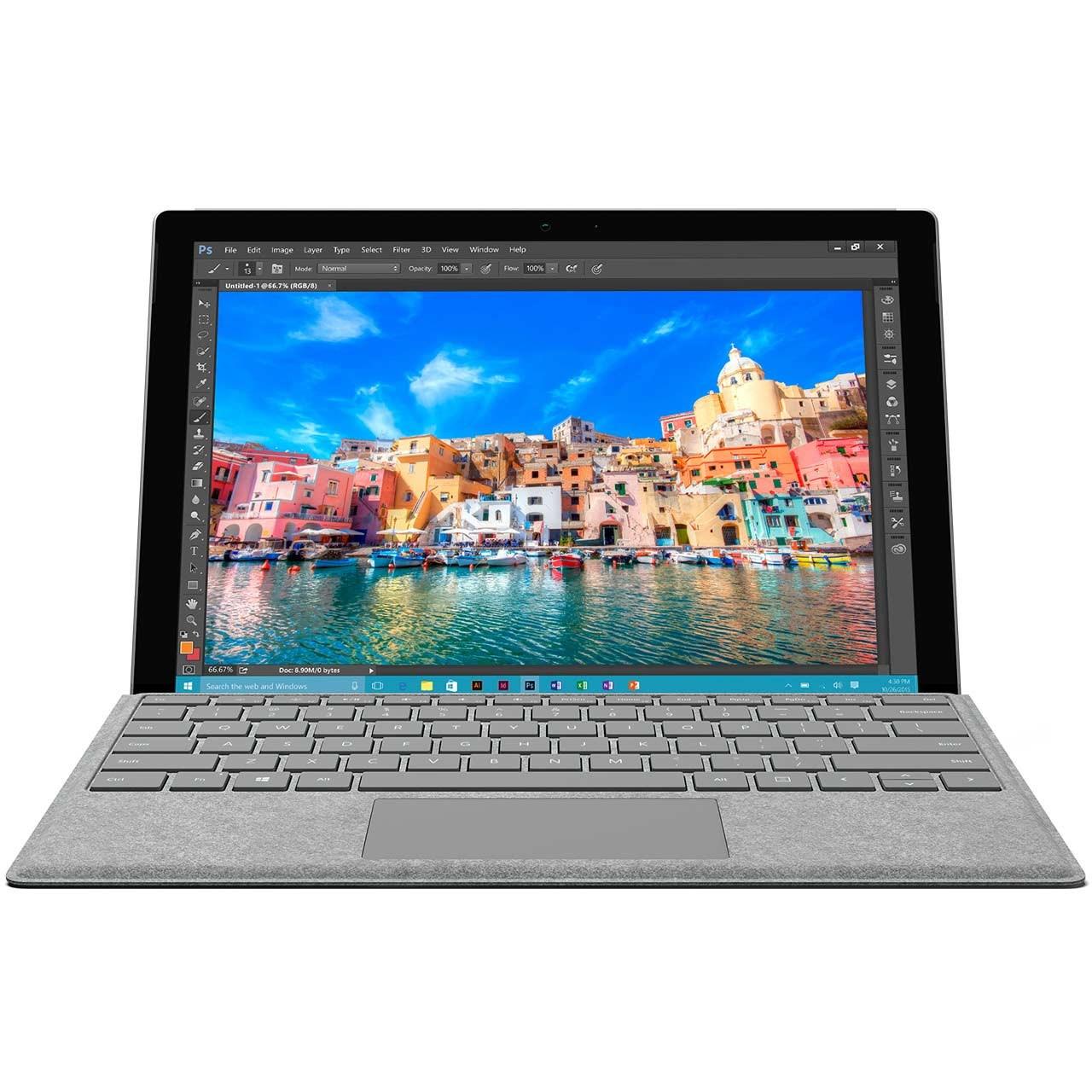 تبلت مایکروسافت مدل Surface Pro 4 - E به همراه کیبورد Signature Type Cover