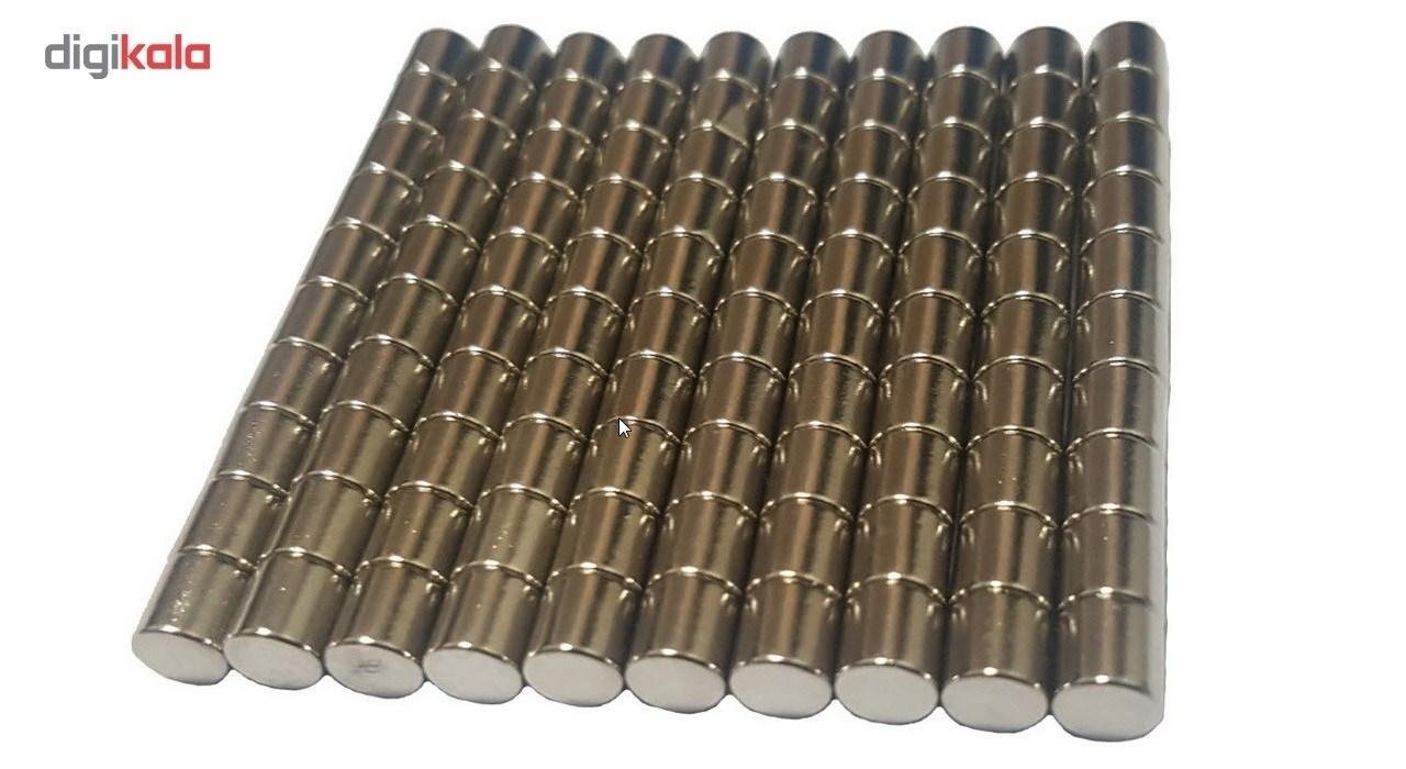 آهن ربای مدل استوانه 5x5mm  بسته صد عددی