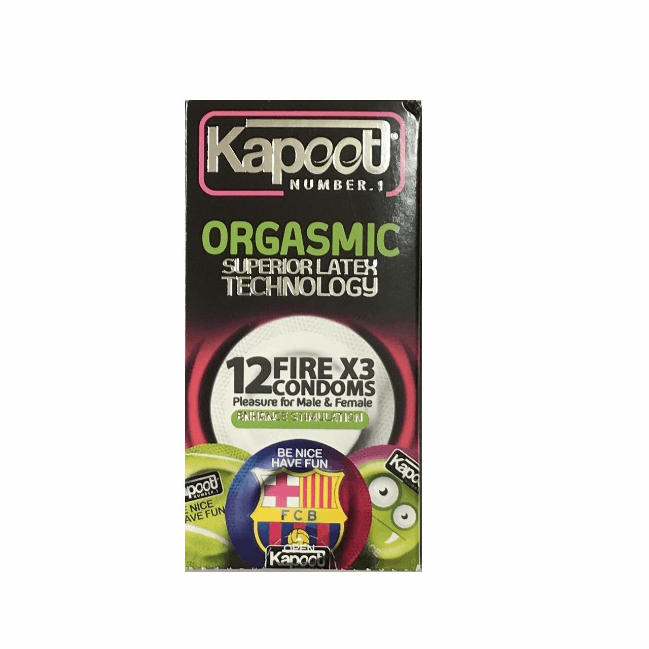 قیمت کاندوم خاردار کاپوت مدل Orgasmic بسته 12 عددی