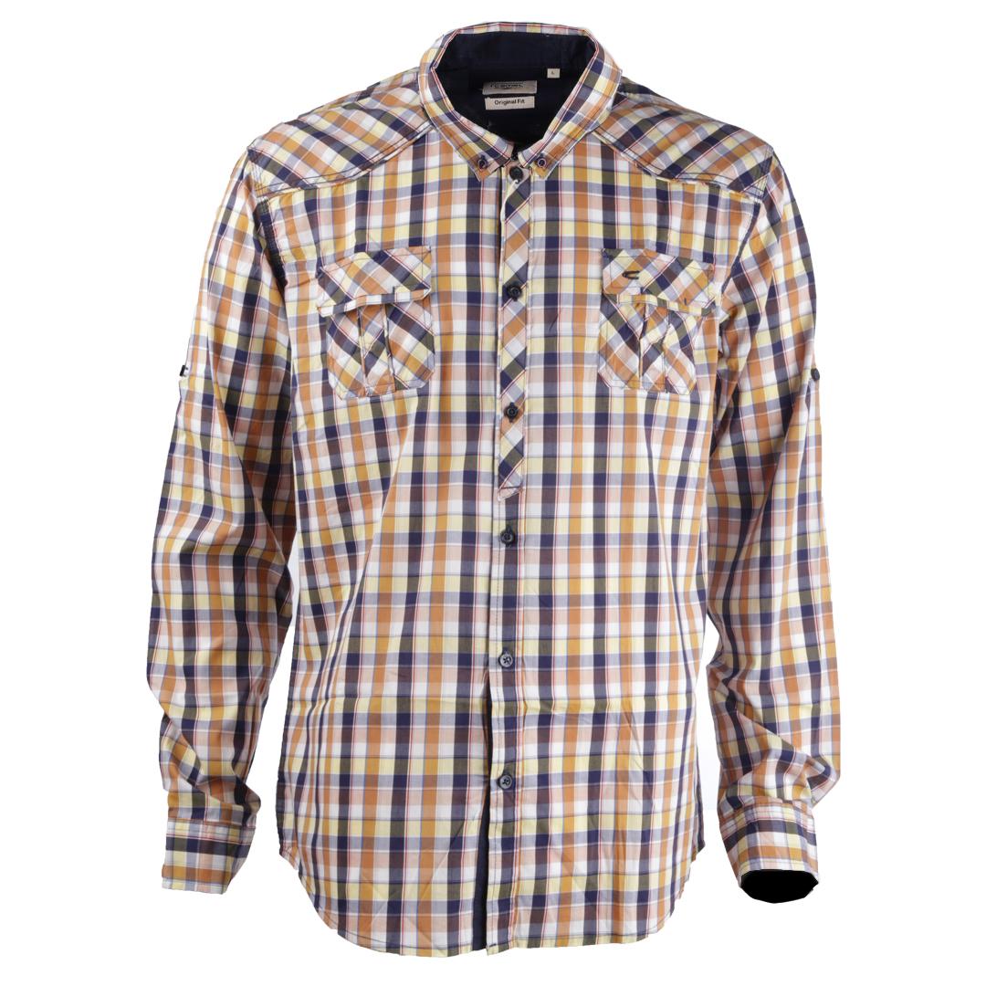 پیراهن آستین بلند مردانه کمل مدل  3MNS-2019-009