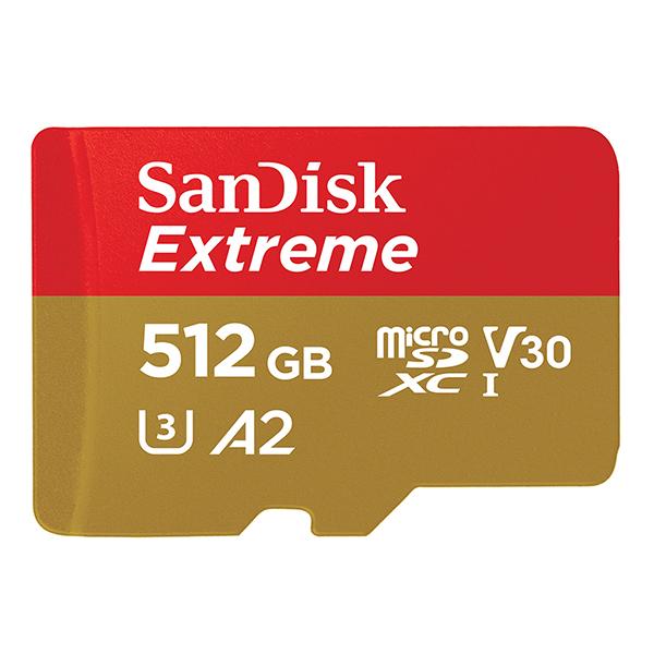 کارت حافظه microSDXC سن دیسک مدل Extreme کلاس A2 استاندارد UHS-I U3 سرعت 160MBps ظرفیت 512 گیگابایت
