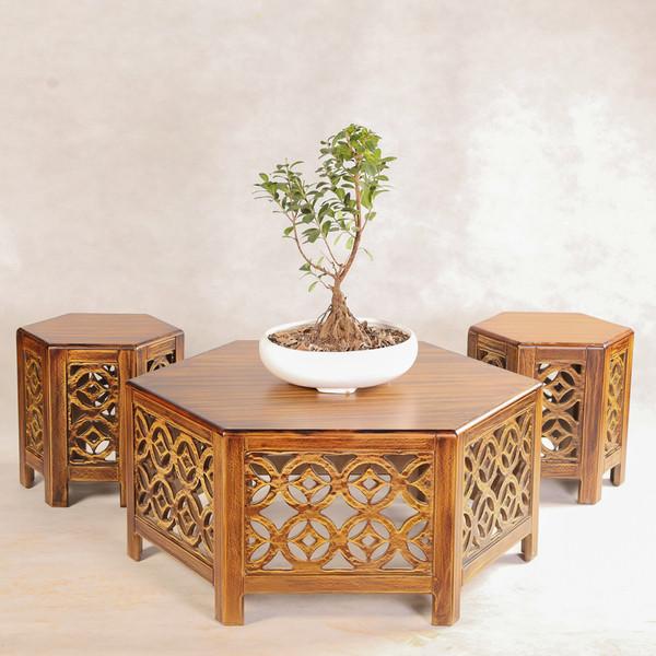 میز عسلی مدل 2580 مجموعه 3عددی