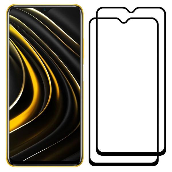محافظ صفحه نمایش مدل FCG مناسب برای گوشی موبایل شیائومی Poco M3 بسته دو عددی