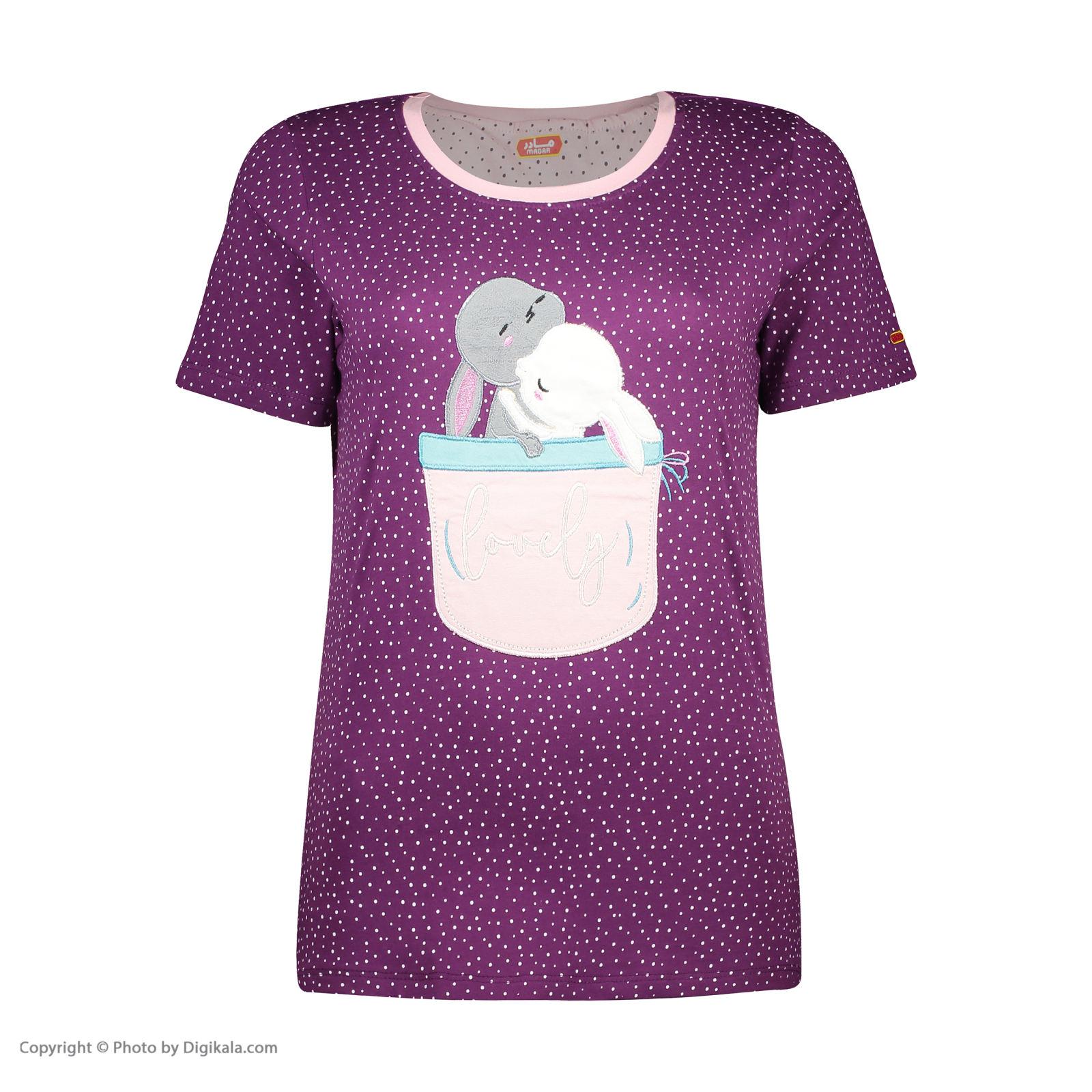 ست تی شرت و شلوارک راحتی زنانه مادر مدل 2041102-67 -  - 4